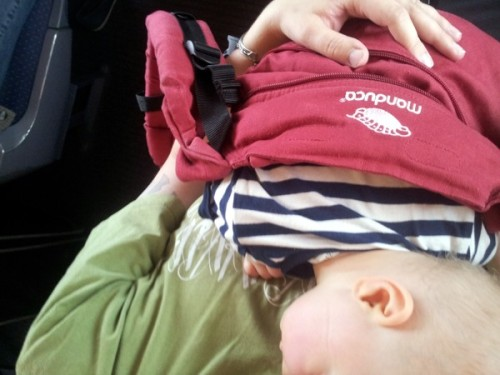 Nickerchen im Zug